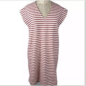 J. Crew Factory Red White Striped Dress July 4th